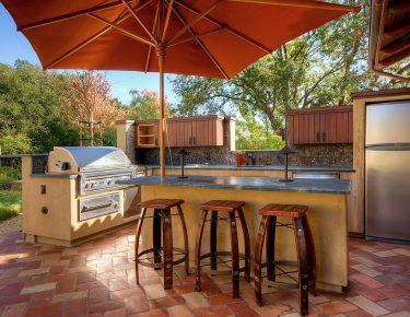 Modern-outdoor kitchen design