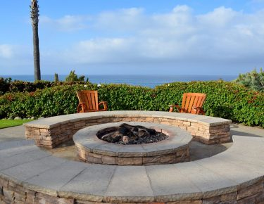 fire-pit-stoned and beach front