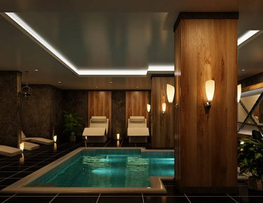 indoor luxury spa and pool