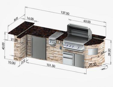 outdoor kitchen sketch
