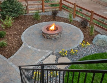 outside circular fire pit