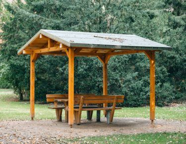 pergola to relax and unwind at the park