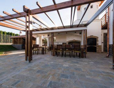 wooden terrace lounge pergola